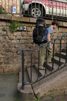 The first of many marking points along the Camino Frances.