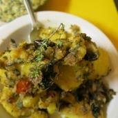 Potatoes with cleaver, wild thyme & oregano.
