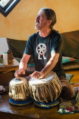 Mincho with his tabla drums.