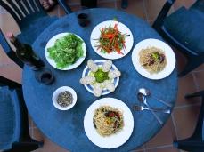Dinner in Estella, spring.