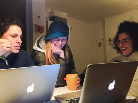 Working through some design decisions! Photo credit Caity Cunningham.